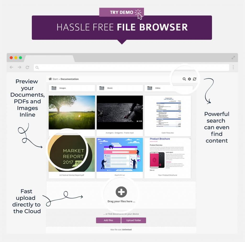 WP Cloud Plugins | Manage and Share your Documents in the Cloud on a WordPress site